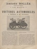 Voitures Automobiles: A Vapeur & Au Petrole (Cars Automobiles: Steam and Oil)