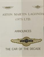 Aston Martin V8 Vantage : Reprinted from 'Autocar' week ending 9th April 1977