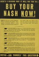 Here's 5 Reasons Why It Will pay You To - Buy Your Nash Now !