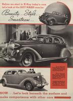Before We Start To X-Ray Today's Cars Let's at the 1937 Nash Cars for Beauty...Style...Smartness ...