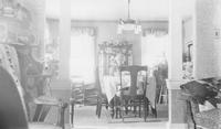 Mary Emma Seal in dining room of Seal family home (Chadds Ford, Pa.)