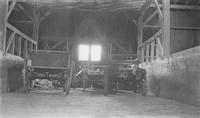 Barn interior with farm equipment at Locust Knoll Farm