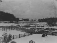 Snow-covered fields as seen from home of Howard Ellsworth Seal, Sr.