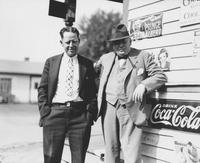 W. Edwin Miller and Harry Smith in front of Dr. Green's drugstore (Chadds Ford, Pa.)