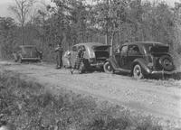 William Howard Seal's 1936 Oldsmobile and other vehicles (near Dingmans Ferry, Pa.)