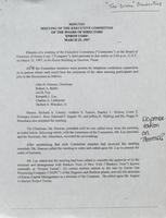 Executive Committee minutes [March 25, 1997]