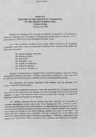 Executive Committee minutes [October 20, 1999]
