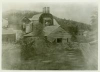 Drawing of Tyson Charcoal Furnace (Tyson, Vt.)