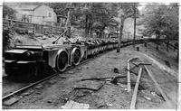 Hauling coal from high coal mines with a Jeffry motor (W.Va.)