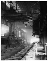 Teeming or pouring aisle at electric furnace, Timkin Roller Bearing Company (Canton, Ohio)
