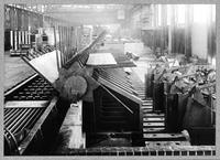 Porcupine transfer table at hot strip mill, Columbia Steel Company (Butler, Pa.)