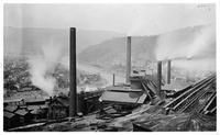 Blast furnaces converted to tramway carrier system, Cambria Iron Works (Johnstown, Pa.)