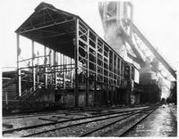 Blast furnace looking at cast house, Bethlehem Steel Company (Lackawanna, N.Y.)