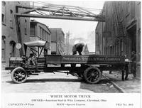 White Motor Company truck, Newburg Works, American Steel & Wire Company (Cleveland, Ohio)