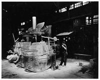 Replica of first electric arc furnace in the United States