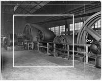Steam engine and belt drives for rolling mill, Wisconsin Steel Company (Chicago, Ill.)