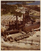 Blast furnace under construction, Bethlehem Steel Corporation (Sparrows Point, Md.)