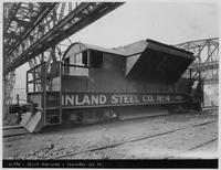 Transfer car on blast furnace high line, Inland Steel Company (Chicago, Illinois)
