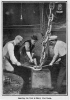 Chain making: inserting the stud in heavy stud chain, American Chain Cable Works (Troy, N.Y.)