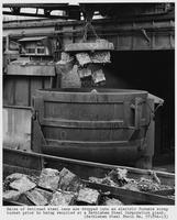 Recycling detinned steel cans at electric furnace plant, Bethlehem Steel Corporation