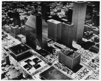 Steel in use - architectural model for Pennzoil Place (Houston, Tex.)