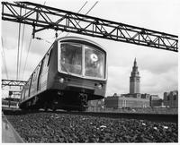 Steel in use - rapid transit cars (Cleveland, Ohio)