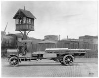 White Motor Company truck hauling steel, Carnegie Steel Company (Cleveland, Ohio)