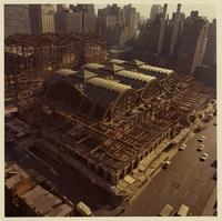 Installation of steel for Pennsylvania Station (New York City, N.Y.)