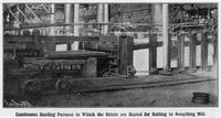 Billet heating furnace feeding the roughing mills, Donora Works, American Steel and Wire Company (Donora, Pa.)