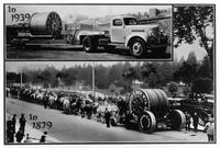 Transporting reels of wire rope, Washburn & Moen Manufacturing Company