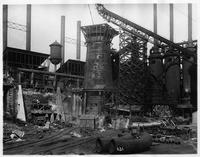Blast furnace under construction, Bethlehem Steel Company (Lebanon, Pa.)