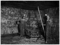 Coal mine working face with Sullivan Mining machine and Chicago drill