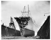 Steel in use - MS Stockholm in dry dock, Bethlehem Steel Corporation (Brooklyn, N.Y.)