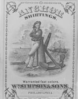 William Simpson & Sons textile label for Anchor Shirtings
