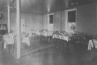 Dining room at Rockford Hall, male employees' boarding house (Wilmington, Del.)