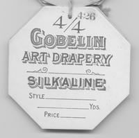 Gobelin Art Drapery Co. textile tag for silkaline
