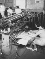 Pantagraph operator at work at Print Works Division (Eddystone, Pa.)