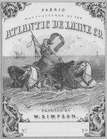 William Simpson & Sons textile tag for fabric manufactured by the Atlantic De Laine Company