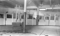 Interior of horse barn at Wawa Dairy Farms