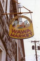 Wawa Market hanging sign in Chestnut Hill (Philadelphia, Pa.)