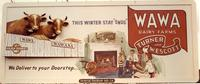 Wawa Dairy Farms billboard advertising home milk delivery service