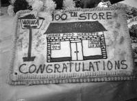 Cake decorated to celebrate the opening of the 100th Wawa store (Marlton, N.J.)