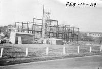 Frame for Wawa Dairy Farms milk processing plant under construction