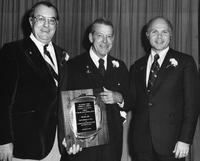 Lester Broadbelt, Grahame Wood, and Samuel Parsons with Delaware County Chamber of Commerce Economic Development Award