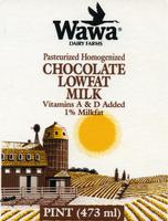 Packaging flat for Wawa Dairy Farms Pasteurized Homogenized Chocolate Lowfat Milk