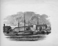 Illustration of Millville Manufacturing Company cotton mill exterior
