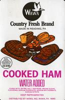 Packaging label for Wawa Cooked Ham