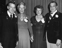 Grahame Wood, Emilie Wood, Ruth Broadbelt, and Lester Broadbelt at the Delaware County Chamber of Commerce banquet