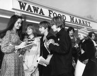 Miss New Jersey, Lynn Gail Hackermann, signing autographs at the opening of the 100th Wawa store (Marlton, N.J.)