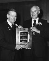 Grahame Wood and W. Elridge Brown Jr. with Delaware County Chamber of Commerce Economic Development Award